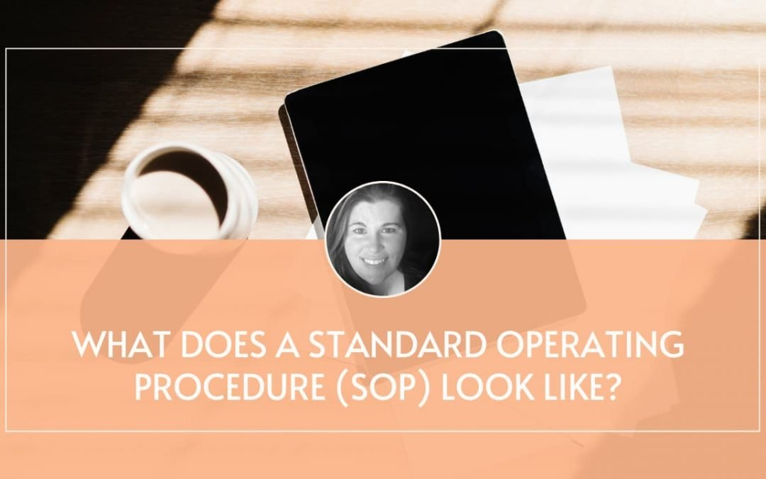 What Does An SOP Look Like?