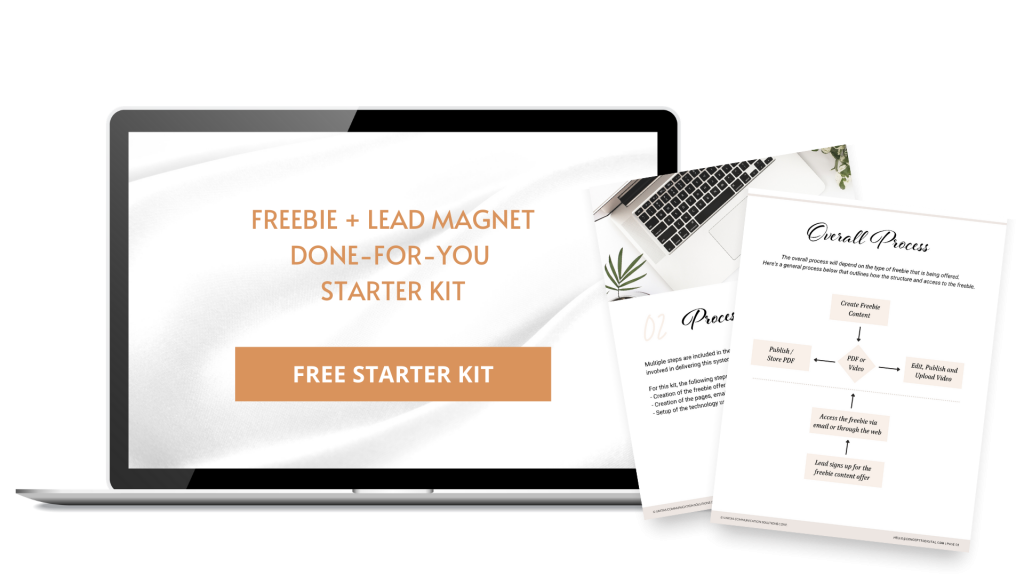 lead magnet - done for you freebie kit image