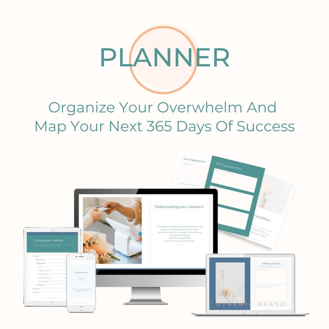 The Digital Spark Workbook + Planner - Organize Your Overwhelm